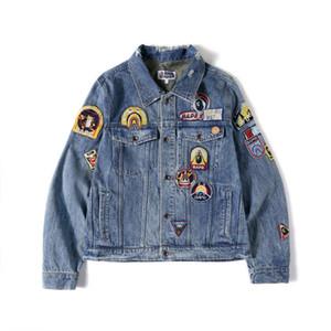 Bape Mens Styliste Vestes Veste d'hiver Mode Hommes Femmes Denim Veste Hip Hop Casual Styliste Jacket Vêtements pour hommes Taille M-XXL