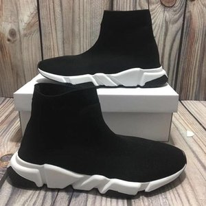 Hot sale New Paris Air Knit Speed Trainer Sneakers Mens Womens hococal Classic Brand designer Top Fashion slipon Sock Shoes Boots