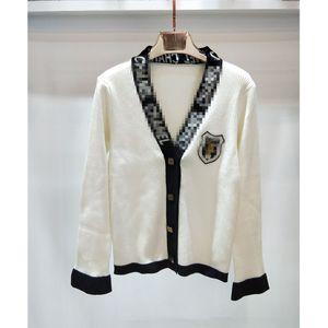 Giacche lavorate a maglia moda-donna Casuali maglioni da donna firmati Maglioni Giacca Cappotto cardigan in maglia bianco e nero profumato di piccole dimensioni