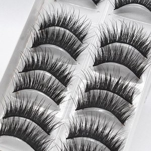 3D Natural Length Thickening Stage Eyelashes Soft False Eyelashes Hair Eyelash Long Lashes Eye Thick Cross Beauty Makeup 1set