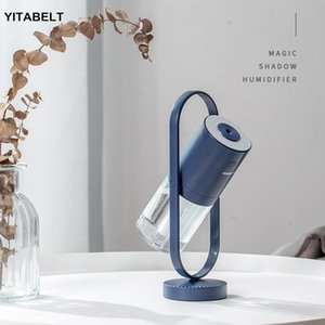 200ML Ghost USB Humidifier Portable Charging Humidifier Home Office Desk Projector LED Lamp with Rotation Free Switch