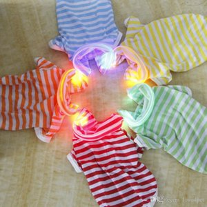 F13 Haustier für kleine, mittlere Haustierhundekleidung helle Hemd Sommerkleidung für Hunde niedlichen Hund Kleidung LED