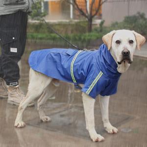 Waterproof Dog Raincoat Com uma capa reflexiva Sólido cor da pelagem do cão de estimação do filhote de cachorro Chuva Manto Cães Costumes Roupa Pet Shop DBC BH3136
