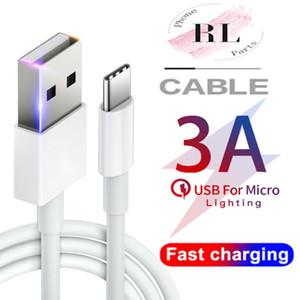 3A alta velocidad USB cable cargador rápido Micro USB Tipo C Cables 1M 2M 3M de carga