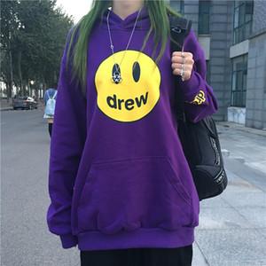 drew Haus Designer Sweatshirt Pullover Männer Frauen Hip Hop Print Langarm-beiläufige lose Pullover Lila Sweatshirts