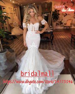 Bohemian Champagne Tulle Mermaid Wedding Dresses Elegant Appliqued Lace Boho Beach Bridal Gowns Custom Wedding Bride Dress Vestidos de Novia