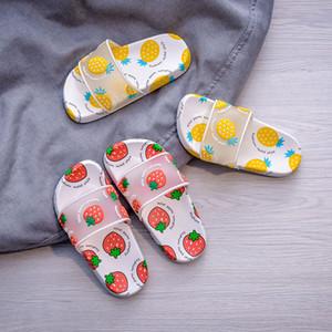la parte superior de los niños Zapatillas Hombres Mujeres playa al aire libre sandalias del verano del bebé plana cubierta principal del fracaso de tirón ocasional de los niños suaves zapatos antideslizantes inferiores