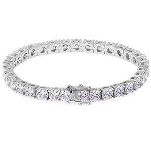 Femmes Tennis Bracelet coloré Zircon chaîne cadeau Cristal Hip Hop Durable Round Accessoires Bijoux Non Toxic Fashion
