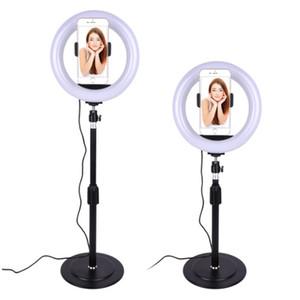 20 cm Dimbable LED Studio Câmera Anel Luz Photobox Telefone Video Luz Luminária para Fotografia Makeup Fill Lights Fotografia Backdrop Stand