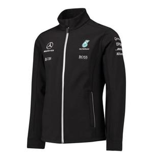 F1 primavera e outono inverno roupas cobrar personalizado Jaqueta Soft Shell equipe AMG masculino correndo terno terno motocicleta