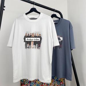 20SS Retrato LOGO t-shirt impressão manga curta T da faixa Moda Casual Algodão Shorts Mens e mulheres casal Designer T-Shirt HFXHTX132