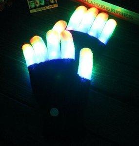 LED Gloves 6 Modes Color Changing Party Rave Glow Finger Gloves Concert Light up Toy Luminous Gloves Finger Flash Gift Magic Toy LED