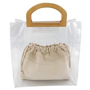 FGGS-Moda Grande Capacidade geléia sacos transparentes Mulheres Casual Laides Saco da praia Bolsas Mulheres Bolsas, seção Vertical