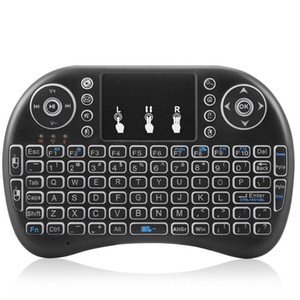 Mini i8 Wireless Keyboard Backlight Backlit 2.4G Air Mouse Keyboard Remote Control Touchpad lithium battery for Android TV Box