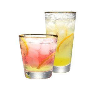 Set of 2 9oz 11oz handmade blown lead free glass whiskey glass mixied drinking glass for juice whiskey water tumblers