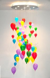 Colorful Glass Balloon lampadario Lampada a sospensione luce di soffitto bambini Camera da letto moderna CA011