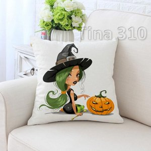 Halloween Holiday Pillow Cover High Definition Digital Sticker Fashion pillowcase Festival Home Sofa Interior Decoration T3I5126