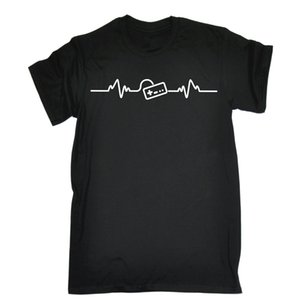Fashion Hot Sale Gaming Heart Beat Pulse T-SHIRT Gamer Console Games Controller Gift Birthday Tee Shirt