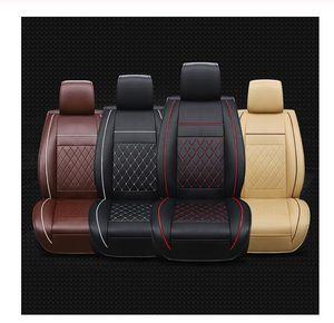 Universal PU Couro Car Auto Seat Cover Acessórios Interior Autocovers Almofada com Rasto para Seat Covers Carros Styling