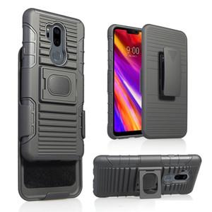 5 en 1 Clip de cinturón híbrido Holster Combo Defence Case para LG G7 V40 ThinQ K10 2018 K30 Q7 Q6 Q Stylus plus K4 K8 2017 X Venture M710h