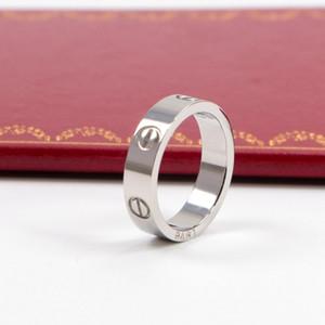 2020 versione larga moda di chiodo classicoCartier donne in acciaio anello in titanio sul 18k anello anello in oro rosa con nessuna scatola originale KK22