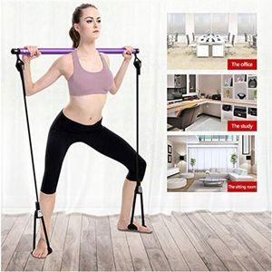 Las bandas de resistencia Yoga Pilates Gym portátil Kit de barra de resistencia banda ajustable Ejercicio palillo de tonificación Equipo de entrenamiento del ejercicio