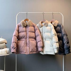 Las mujeres ropa de moda Nuevos gruesos abrigos esquimales Casual cuello alto flojo por la chaqueta femenina de algodón acolchado cálido abrigo de invierno