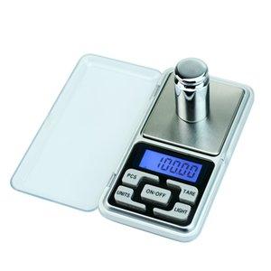 Mini Escala de Bolso 200g / 300g / 500g Escala de Gram Digital de Jóias Para O Esterlina de Ouro Equilíbrio Eletrônico 0.01 Escalas de Peso de Precisão