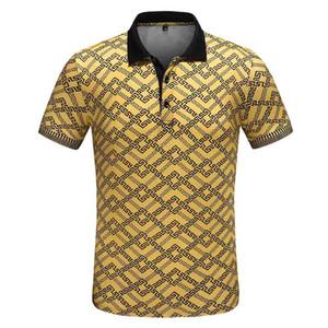 Primavera Luxury Italy T-shirt Designer Designer Polo Camicie High Street Ricamo Giarrettiera Snakes Little Bee Stampa Abbigliamento Mens Brand Polo Shir