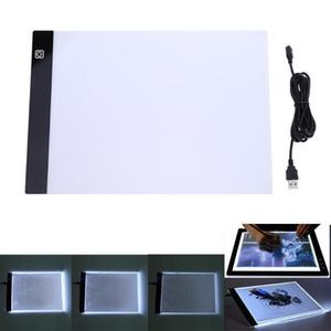Tableta de dibujo A5 Tablero de gráficos digitales USB Caja de luz LED Rastreo Tablero de copia Arte electrónico Gráfico Pintura Mesa de escritura
