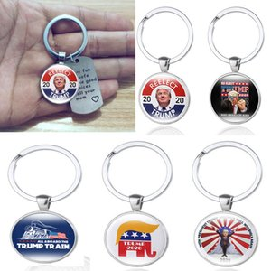 18 Styles Donald Trump 2020 Keychain key ring Keep Make America Great Stainless Steel Trump Tag Christmas Festive Party Favor DHL HH-2472