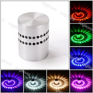 LED 벽 램프 현대 3W RGB 나선형 SCONCE 천장 조명기구 실내 홈 통로에 적합 FITER BEDSides Epacket