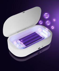 Caricabatterie Wireless sterilizzazione UV di sicurezza del telefono di ricarica rapida UVC Disinfezione lampada multifunzionale dell'organizzatore di immagazzinaggio del caricatore Android IOS