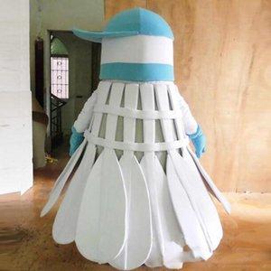 2018 Materiale di alta qualità EVA Casco Tre mascotte di badminton Costumi Cartoon Apparel Festa di compleanno Masquerade