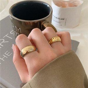MENGJIQIAO nuovo modo punk di colore dell'oro del metallo anelli registrabili per i regali di gioielli le donne Gli studenti Mid Finger Knuckle squilla il partito