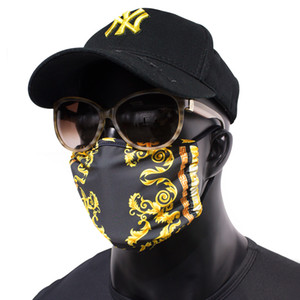 Fashion Design Animal and Plant Printing Masks Dust-proof Washing Riding Mask Adult Reuse Masks Free DHL