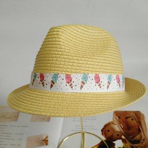 Bambini Cappello per il sole dei ragazzi delle New Estate Cappello di paglia di viaggio per Sun Protection Big bordo del cappello di Sun della principessa Baby
