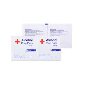 100 piezas Mini desinfección Dipe Pads 70% 3x6cm contenido del embalaje sellado estéril desechable de viajes Desinfección del cojín para al aire libre Inicio RRA2980