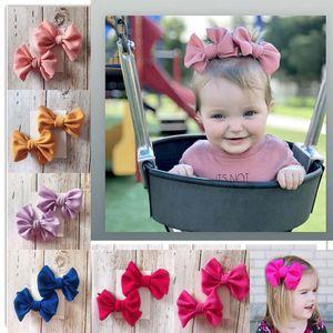 Yeni Avrupa Bebek Kız Big Bow Saç Klip Çocuklar ilmek tokası 2adet Seti Tokalarım Çocuk Saç Aksesuarı 14942