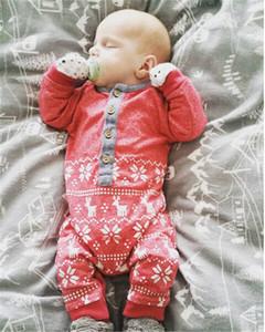 Nouveaux Noël bébé nouveau-né Barboteuses Vêtements Cute Cartoon Enfants Garçons Filles Jumpsuit manches longues en coton Little Baby Costumes Outfit