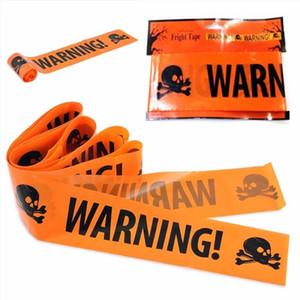 Halloween Warning Tape Sinais Dia das Bruxas Props Janela Partido Perigo linha de alerta 580x8.5cm Decoração de Halloween Bruxa balões