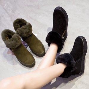 Chaussures Mujer 2018 Casual Chaussures Femme Marque De Mode Bottes De Neige Chaudes Lady Chaussure Hiver Chaussures Pour Femme Augmente Les Chaussures Avec Fourrure