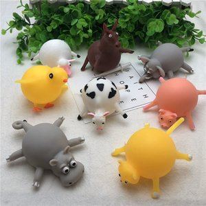 Cute Children Animals Balloon Toys Squishys Toys TPR Stress Relief Inflatable Animals Toys Stretchy Balloon Squeeze Ball for Kids and Adults