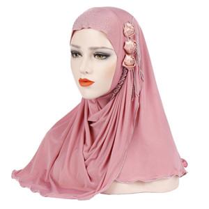 Newest Headscarf Cap Scarf Turban Muslim Tur Cap Full Cover Islamic Hat Womens Ice Silk Hijabs