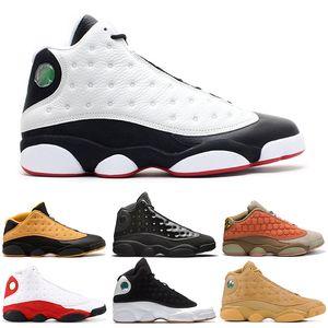 13 13s Chaussure De Basket-ball Clot Cap Et Robe Robe Melo Atmosphère Gris Flint Chicago Chat Noir Histoire De Vol Entraîneur De Sport Baskets 7-13