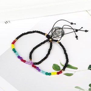 Fashion 12 Constellation Lucky Stone Beads Bracelet 3mm Beads Bracelet Bohemia Chakra Bracelets for Women