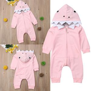Criança Kid Boy Girl tubarão Romper Bodysuit Macacão Playsuit Outfits Costume
