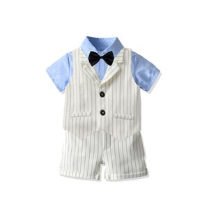 Fashion Boys Suits Blazers sets Summer Baby Boys Blazers Suits for Weddings Shirt Shorts Dress Suit Gentleman Boy's Birthday Boys Tuxedo