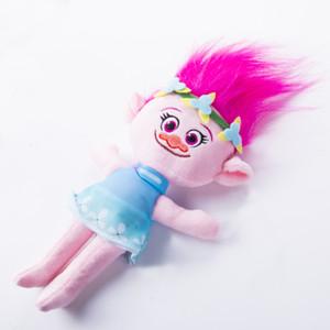 Nueva película Trolls grandes regalos de amapola Branch abrazo linda muñeca de la felpa para niños juguetes los 23CM