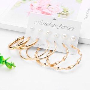 Jewelry & Accessories WYBU 8 Kinds Summer Style Metal Dangle Earring Set For Women Sport Tassel Drop Earring Set 2020 Brincos Female